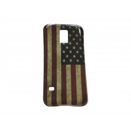 Coque TPU Samsung Galaxy S5 Mini G800 USA/Etats-Unis + film protection écran offert