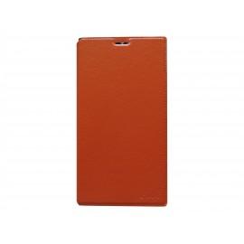 Pochette simili-cuir pour Nokia Lumia 1520 orange  + film protection écran