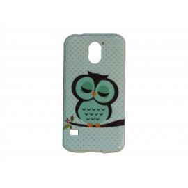 Coque TPU Samsung Galaxy S5 G900 hibou vert émeraude+ film protection écran offert