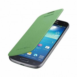 Flip cover origine Samsung Galaxy S4 I9500 verte+ film protection écran