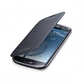 Pochette Etui à rabat origine Samsung I9300 Galaxy S3 bleu nuit + film protectin écran