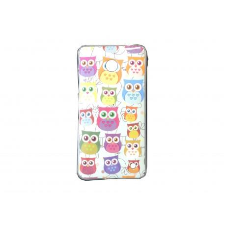 Coque TPU pour Nokia Lumia 630 hiboux multicolores + film protection écran offert