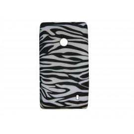 Coque pour Nokia Lumia 520 zèbre noir et blanc + film protection écran offert