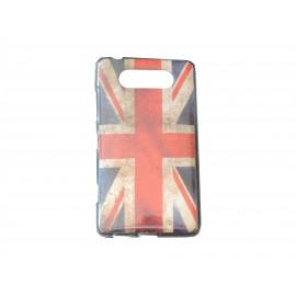 Coque TPU pour Nokia Lumia 820 UK/Angleterre vintage + film protection écran offert