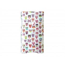 Coque TPU grise pour Nokia Lumia 920 petites chouettes + film protection écran offert