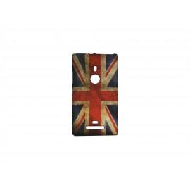 Coque pour Nokia Lumia 925 UK/Angleterre vintage + film protection écran offert