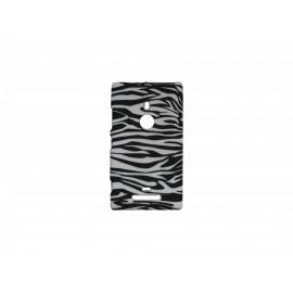 Coque pour Nokia Lumia 925 zèbre noir blanc + film protection écran offert