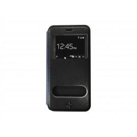 Pochette pour Iphone 6 plus simili-cuir noir + film protection écran offert