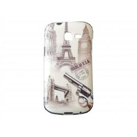 Coque TPU Samsung Galaxy Trend Lite S7390 Tour Eiffel + film protection écran offert