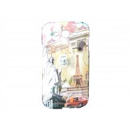 Coque TPU Samsung Galaxy Grand I9080 statue de la liberté + film protection écran offert