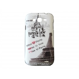 Coque TPU Samsung Galaxy Grand I9080 Paris Tour Eiffel + film protection écran offert