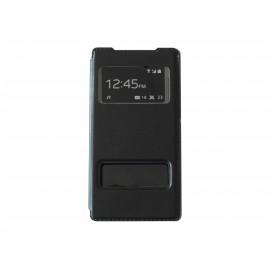 Pochette pour Sony Xperia Z2 simili-cuir noir + film protection écran offert