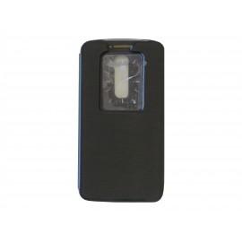 Pochette pour LG G2 noire fenêtre + film protection écran offert