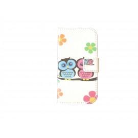 Pochette pour Samsung Galaxy Trend Lite S7390 hiboux + film protection écran