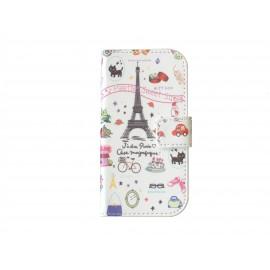 Pochette pour Samsung Galaxy Trend Lite S7390 Tour Eiffel + film protection écran
