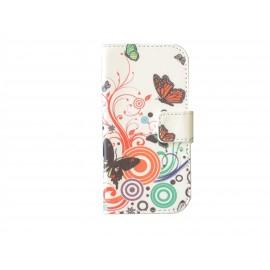 Pochette pour Samsung Galaxy Trend Lite S7390 papillon noir + film protection écran