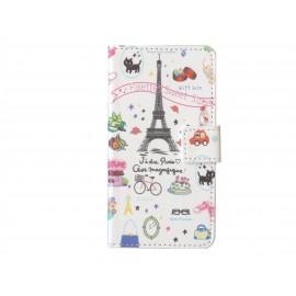 Pochette pour Samsung Galaxy Alpha G850 tour Eiffel + film protection écran