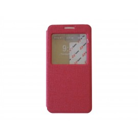 Pochette Inote Samsung Galaxy Alpha G850 rouge + film verre trempé Incassable