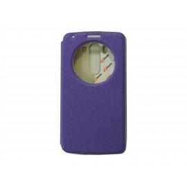 Pochette Inote LG G3 violette + film verre trempé Incassable