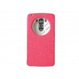 Pochette Inote LG G3 rouge + film verre trempé Incassable