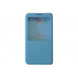 Pochette Inote pour Samsung Galaxy Note 3 N9000 bleue  + film verre trempé Incassable