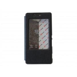 Pochette Inote pour Sony Xperia M2 noire + film verre trempé incassable
