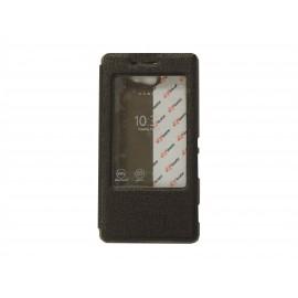 Pochette Inote pour Sony Xperia M2 chocolat + film protection écran offert