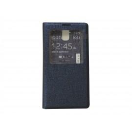 Pochette Inote pour Samsung Galaxy Note 3 N9000 bleue nuit + film verre trempé incassable