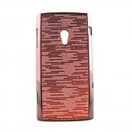 Coque rigide Sony Ericsson  X10 Xperia paillettes + film protection ecran offert