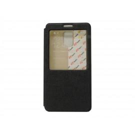 Pochette Inote pour Samsung Galaxy Note 4 N910 noire + film verre trempé incassable
