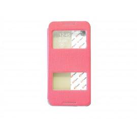 Pochette Inote pour HTC Desire 816 rouge + film protection écran
