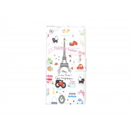Pochette pour Wiko Highway Tour Eiffel + film protection écran