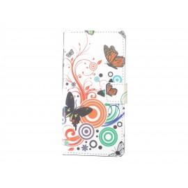 Pochette pour Wiko Highway papillons multicolores+ film protection écran