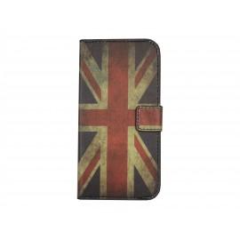 Pochette pour Wiko Barry drapeau Angleterre/UK + film protection écran