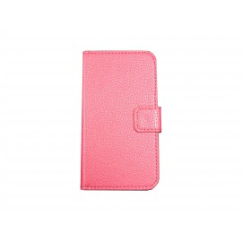 Pochette pour Samsung Galaxy Core Plus G350 rose + film protection écran offert