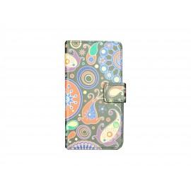 Pochette pour Samsung Galaxy Alpha G850 cachemire + film protection écran