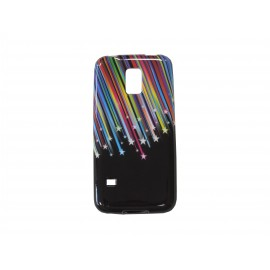 Coque TPU Samsung Galaxy S5 Mini G800 étoiles filantes+ film protection écran offert