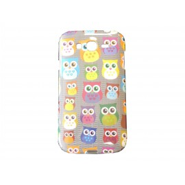 Coque TPU Samsung Galaxy Grand I9080 hiboux multicolores + film protection écran offert
