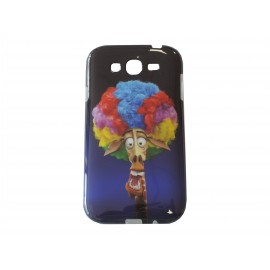 Coque TPU Samsung Galaxy Grand I9080 girafe clown + film protection écran offert
