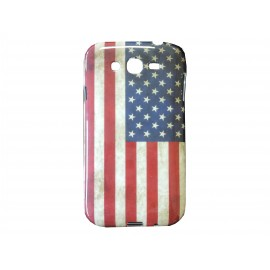 Coque TPU Samsung Galaxy Grand I9080 USA/Etats-Unis + film protection écran offert