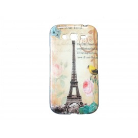 Coque TPU Samsung Galaxy Grand I9080 tour Eiffel + film protection écran offert