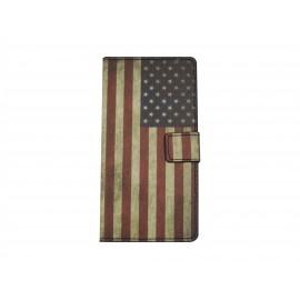 Pochette pour Sony Xperia Z3 compact USA/Etats-Unis + film protection écran