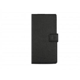 Pochette pour Sony Xperia Z3 compact noire + film protection écran