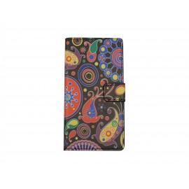 Pochette pour Sony Xperia Z3 compact cachemire + film protection écran