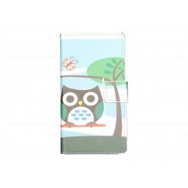Pochette pour Sony Xperia M2 hibou papillon+ film protection écran offert