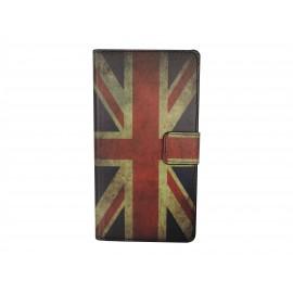 Pochette pour Wiko Darkmoon Angleterre/UK vintage+ film protection écran