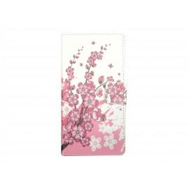 Pochette pour Sony Xperia E3 petites fleurs roses+ film protection écran