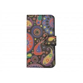 Pochette simili-cuir pour Nokia Lumia 630 cachemire+ film protection écran