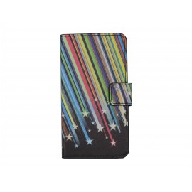 Pochette simili-cuir pour Nokia Lumia 630 étoiles filantes+ film protection écran