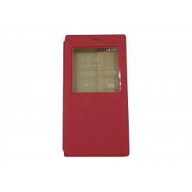 Pochette Inote pour Xiomi MI3 rose fuchsia + film protection écran